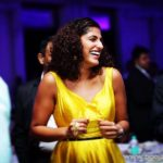 kubbra sait in yellow dress candid picture