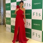 kubbra sait red dress oppo red carpet show