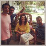 kubbra sait yellow dress group photo