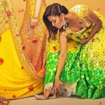 swara bhasker  traditional photoshoot yellow dress pained tattoo