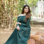 Aathmika, green dress, event