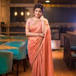 Aathmika, saree, photo shoot, prestigious