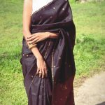 Akshara Gowda, black saree