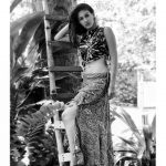Amyra Dastur, black and white, slim hip