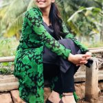 Athulya Ravi, Green dress