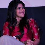 Boomerang Audio Launch, Megha Akash, sitting