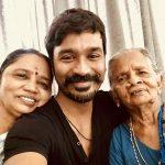 Dhanush, selfie, paati, grand mother