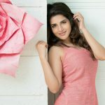 Iswarya Menon, Pink Dress, Flower