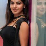 Iswarya Menon, black dress, side pose