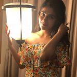 Iswarya Menon, colorful light, night