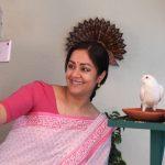 Kaatrin Mozhi, Jyothika, selfie, pink saree
