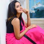 Mahima Nambiar,  Pink Saree, outstanding