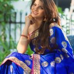 Manisha Shree, Virgin Pasanga, blue saree, spicy