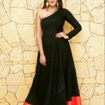 Meera Mitun, tsk actress, black dress