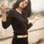 Nandita Swetha, black dress, photoshoot