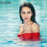 Neha Sharma, inside water, red, seductive