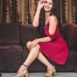 Payal Rajput, red dress, naughty pose