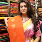 Payal Rajput, saree shop, orange saree