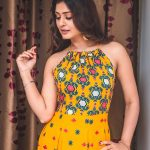 Payal Rajput, stylish, yellow dress