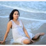 Pooja Ramachandran, Bigg Boss Telugu 2,  beach, white dress
