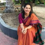 Pooja Ramachandran, Bigg Boss Telugu 2, brown saree, charming