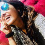 Priya Bhavani Shankar, smile, glass