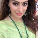 Raai Laxmi,  Green Saree, lovable