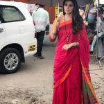 Raai Laxmi, Red Saree, ummberlla