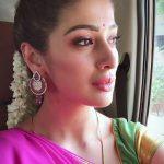 Raai Laxmi, pink Half Saree, sweet