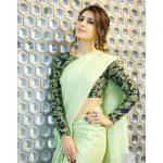 Rashi Khanna, green saree, hip hand