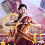 Rashmika Mandanna, kissable, red saree, dance