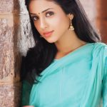 Riya Suman, Paper Boy Actress,  blue saree, favorable