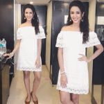 Riya Suman, white dress, pretty
