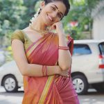 Ruhani Sharma, treditional, red saree