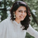 Samantha Akkineni, face, smile, white