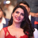 Samantha Akkineni, red dress, smile, actress