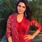 Samantha Akkineni, red dress, telugu actress