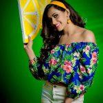 Sanjana Singh, 2018, Photo Shoot, Colourful Dress