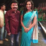 Sanjana Singh, Blue Saree, Power Star