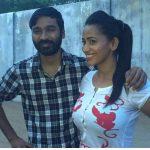 Sanjana Singh, Dhanush, Shooting
