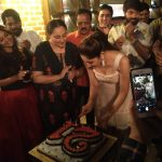 Sayesha Saigal, sayyeshaa, birthday celebration, mother, cake cutting