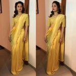 Tamannaah, yellow saree, pretty