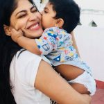 Vijayalakshmi, biggboss2, new entry, child, kiss