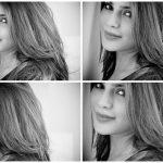 Aathmika, collage, black, tamil actress