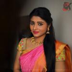 Adhiti Menon, Kalavani Mappillai actress, Pink saree