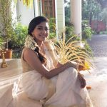 Aishwarya Lekshmi, Upcoimg Tamil Actress, Kerala Saree, Flower