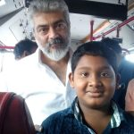 Ajith, Viswasam Shooting Spt, kids fan, bus