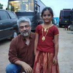 Ajith, Viswasam Shooting Spt, small girl