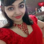 Akshaya Prithvirajan, selfie, red dress, red lips