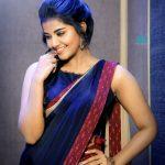 Anupama Parameswaran, hd, saree, shy, recent